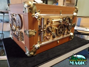 "Jarrett Machine ~ Steampunk ~ ""wind up"" mechanism, electrical *spark* and moving gears"
